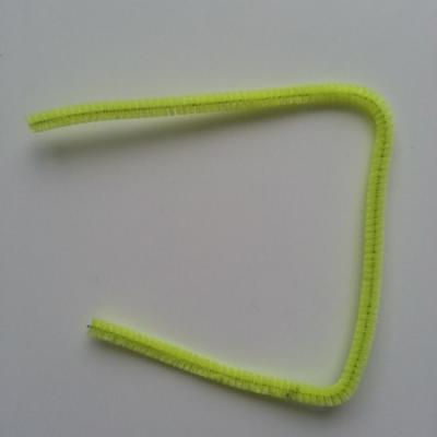 Tige de fil chenille cure pipe 0.6*30cm jaune