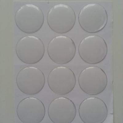Lot de 12 cabochons plat epoxy 25mm