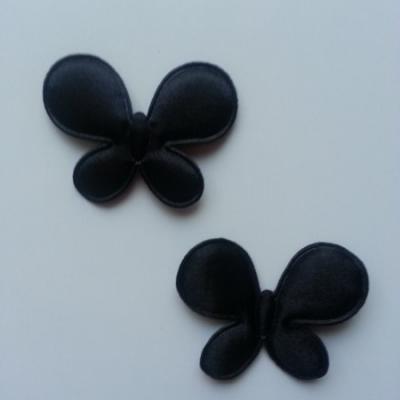 Lot de 2  appliques papillon  45*35mm noir