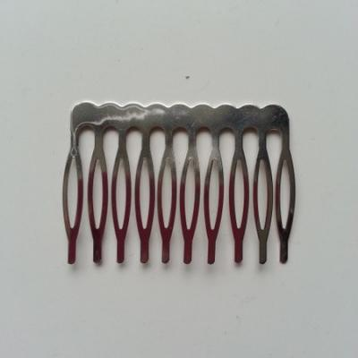 Peigne argenté à décorer 52*40mm