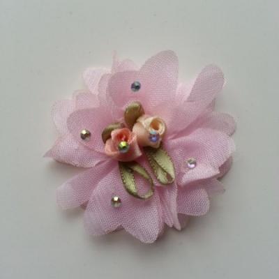 fleur mousseline rose et ses minis fleurs 50mm