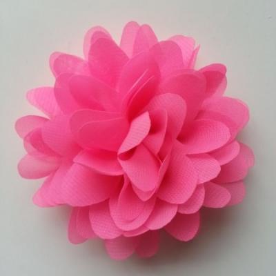 fleur mousseline rose bonbon  10cm