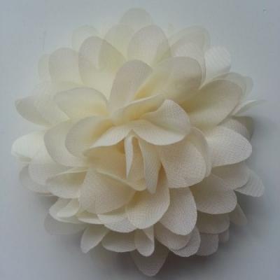 fleur mousseline ivoire  10cm