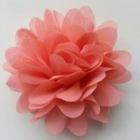 fleur mousseline saumon  10cm