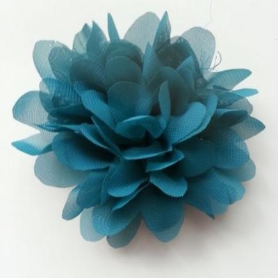 fleur mousseline bleu vert   10cm