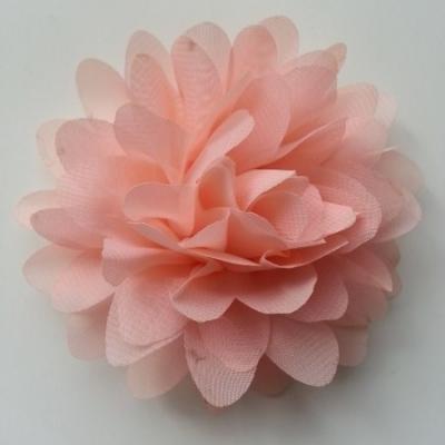 fleur mousseline pêche   10cm