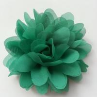 fleur mousseline vert   10cm