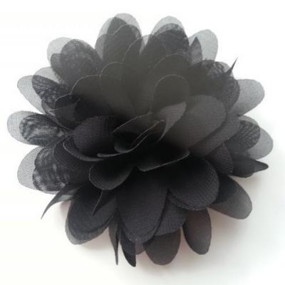 fleur mousseline noir  10cm