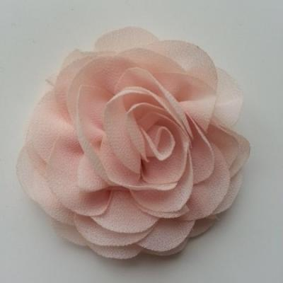 fleur en mousseline pêche   70mm
