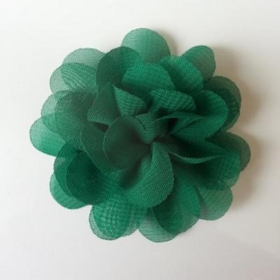 fleur mousseline   50mm vert foncé