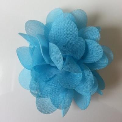 fleur mousseline   50mm bleu
