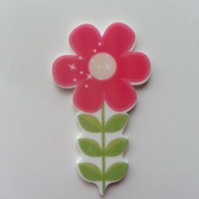 Cabochon  plat en résine fleur 29*50mm