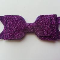 noeud  pailleté   90*35mm violet