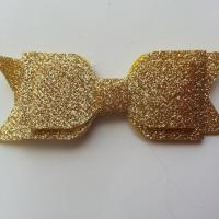 noeud  pailleté   90*35mm doré