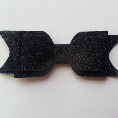 noeud  pailleté   90*35mm noir