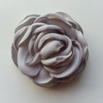 fleur satin de soie 50mm gris