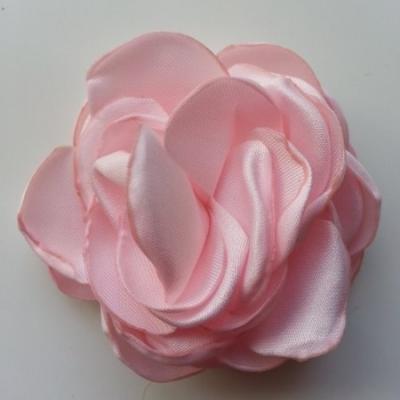 fleur satin de soie 50mm rose pâle