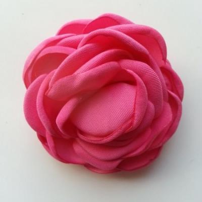 fleur satin de soie 50mm rose fuchsia