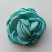 fleur satin de soie 50mm vert