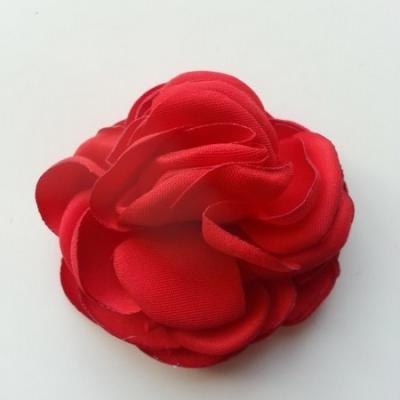 fleur satin de soie 50mm rouge