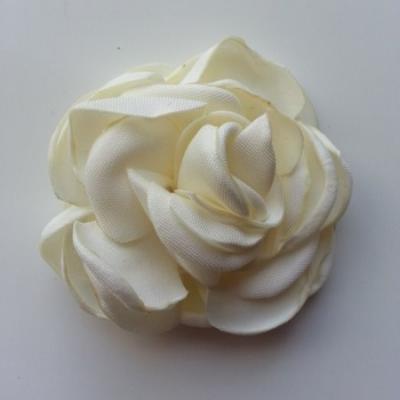 fleur satin de soie 50mm ivoire