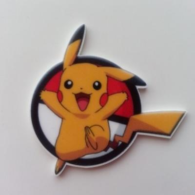 Cabochon  plat en résine pokemon  pikachu 45*43mm