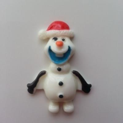 Cabochon en résine  bonhomme de neige  25*30