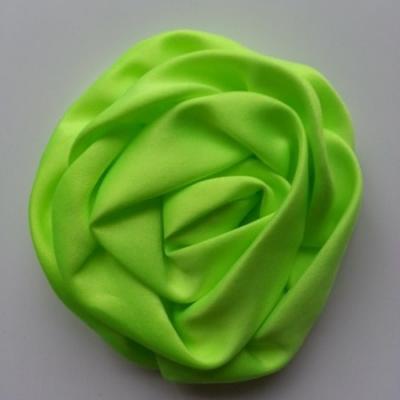 fleur satin chiffon 80mm vert