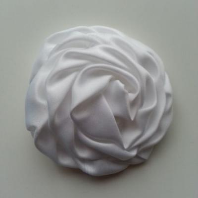 fleur satin chiffon 80mm blanc