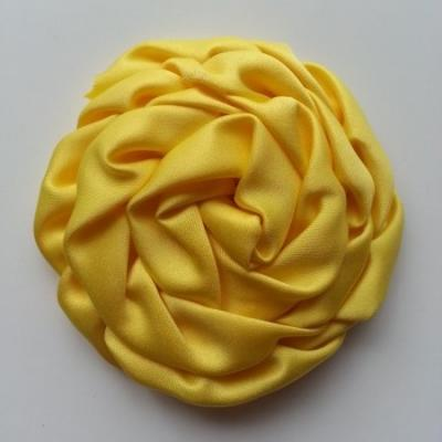 fleur satin chiffon 80mm jaune