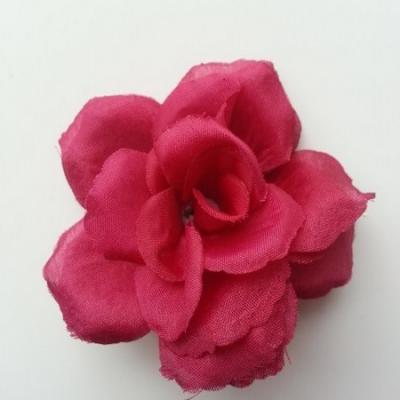 fleur en tissu  70mm bordeaux