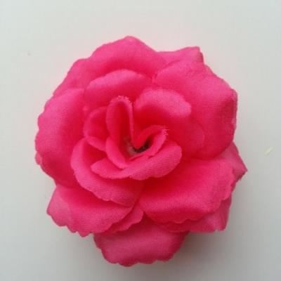 fleur en tissu  70mm rose fuchsia