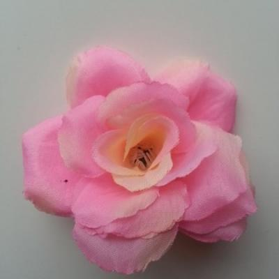 fleur en tissu  70mm rose