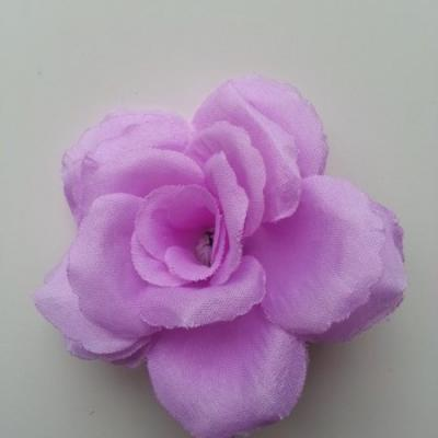 fleur en tissu  70mm mauve