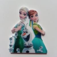 Cabochon  plat en résine princesse anna et elsa reine des neiges 45*40mm