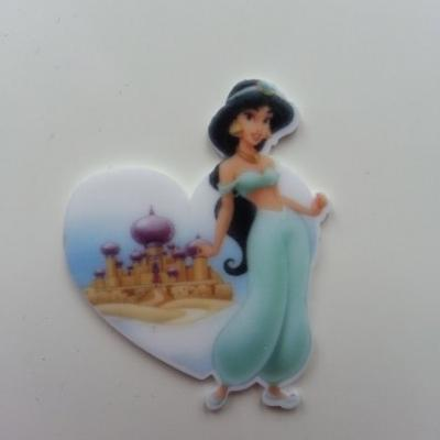 Cabochon  plat en résine princesse jasmine aladin 37*46mm