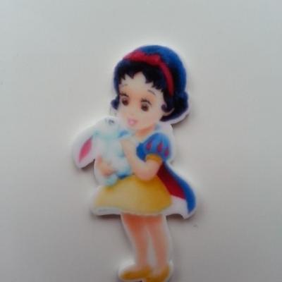Cabochon princesse blanche neige en résine 17*45mm