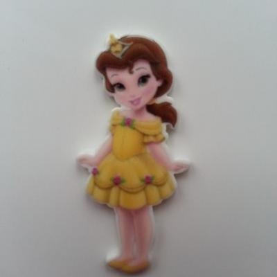 Cabochon princesse belle et la bete en résine 17*45mm