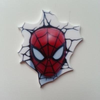 spiderman  cabochon plat en résine 40*35mm