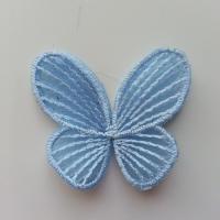 double papillon en dentelle 42*50mm bleu ciel