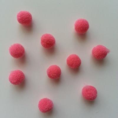 Lot de 10 petits pompons  8mm saumon