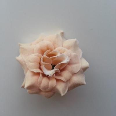 Fleur  en tissu  50mm beige