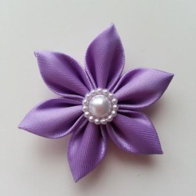 fleur en tissu 4cm mauve pétales pointus