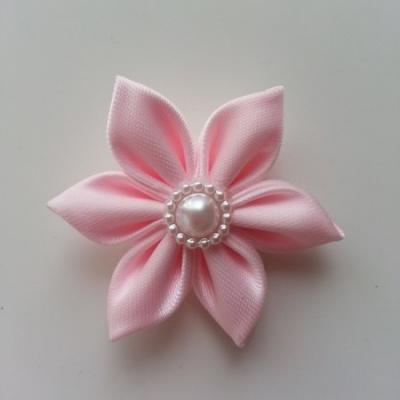 fleur en tissu 4cm rose pétales pointus