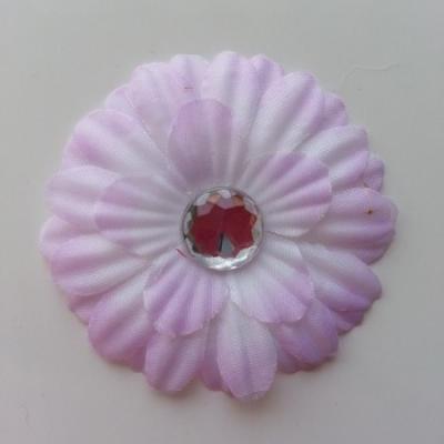 fleur marguerite en tissu mauve 55mm