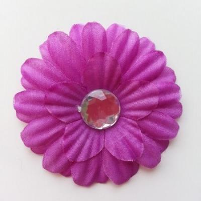 fleur marguerite en tissu violet 55mm