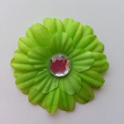 fleur marguerite en tissu vert 55mm