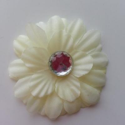 fleur marguerite en tissu ivoire  55mm