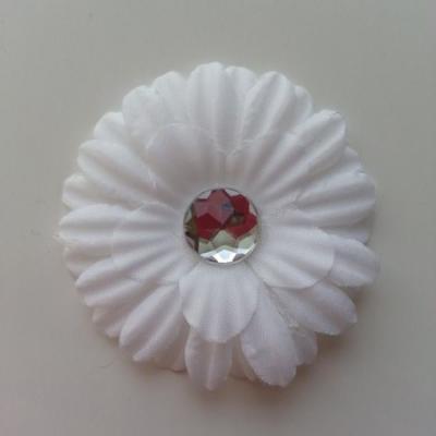 fleur marguerite en tissu blanc 55mm