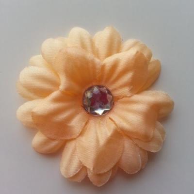 fleur marguerite en tissu peche 55mm